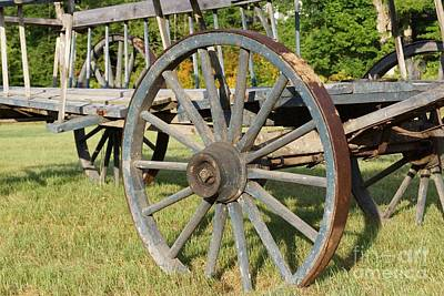 Photograph - Vintage Wagon Wheel by Kerri Mortenson