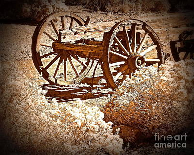 Photograph - Vintage Wagon Wheels by Bobbee Rickard