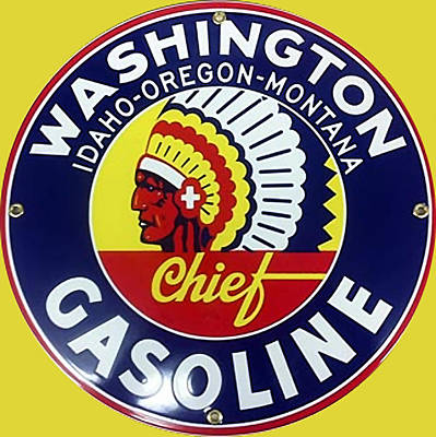 Digital Art - Vintage Washington Gasoline Metal Sign by Marvin Blaine