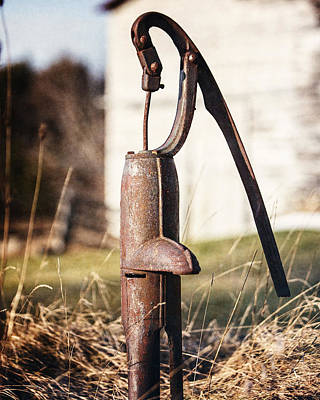 Vintage Water Pump Country Home Decor Art Print by Lisa Russo