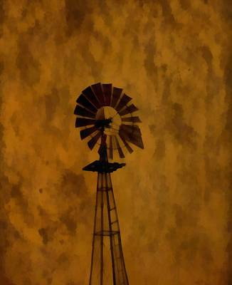Climate Change Painting - Vintage Windmill  by Dan Sproul