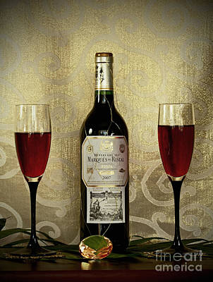 Vintage Wine Lovers Print by Inspired Nature Photography Fine Art Photography