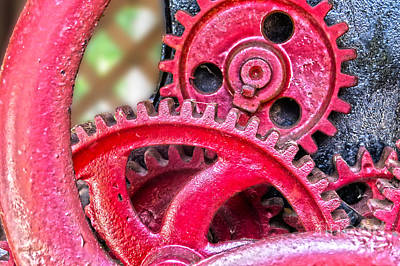 Photograph - Vintage Wine Press Gears by Dawn Gari