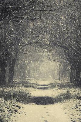 Vintage Winter Art Print by Svetlana Sewell