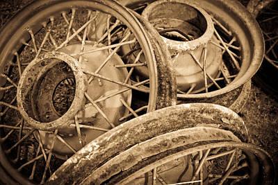 Vintage Wire Wheels Art Print by Steve McKinzie