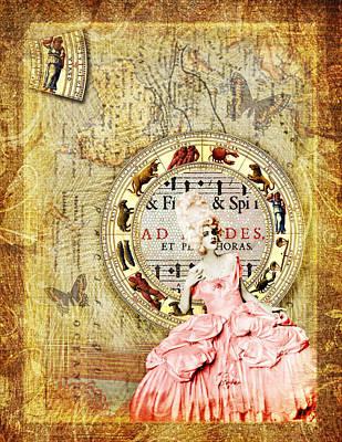 Virgo Digital Art - Vintage Woman Astrology Virgo by Cat Whipple
