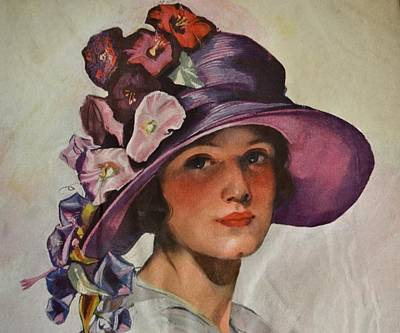 Photograph - Vintage Woman In Floral Hat by Deena Stoddard