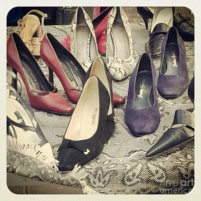Photograph - Vintage Women Shoes by Victoria Herrera