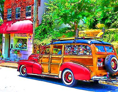 Digital Art - Vintage Woody Art by Robert Roland