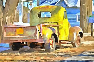 Vintage Work Truck Art Print by L Wright