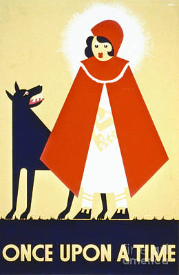 Riding Hood Photograph - Vintage Wpa Poster 1939 by Padre Art