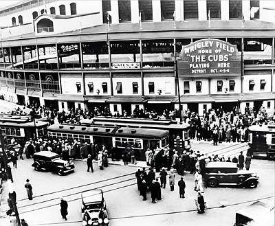 Wrigley Field Photograph - Vintage Wrigley Field by Bill Cannon