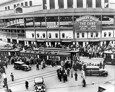 Cubs Photograph - Vintage Wrigley Field by Horsch Gallery