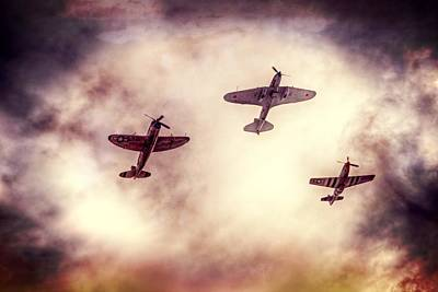 P51 Mustang Photograph - Vintage Wwii Aircraft by Spencer McDonald
