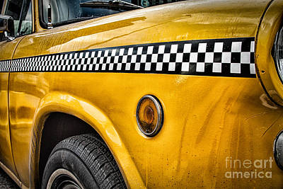 Vintage New York City Photograph - Vintage Yellow Cab by John Farnan