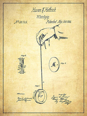 Yoyos Digital Art - Vintage Yoyo Patent Drawing From 1866 - Vintage by Aged Pixel