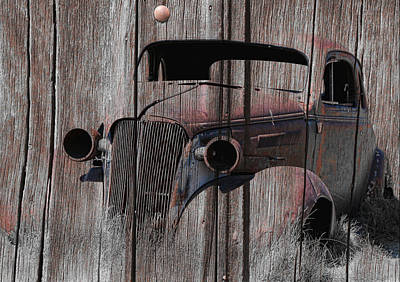 Photograph - Vintage Chevy On Wood by Steve McKinzie