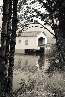 Photograph - Vintaged Covered Bridge by Athena Mckinzie