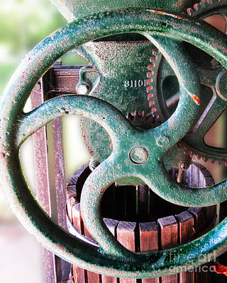 Photograph - Vintage Wine Press  by Dawn Gari