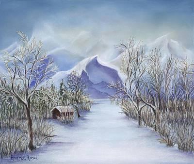 Vinter Fjell Art Print by Andrea Rosa
