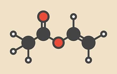 Polymer Photograph - Vinyl Acetate Molecule by Molekuul