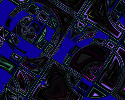 Digital Art - Vinyl Blues by Judi Suni Hall