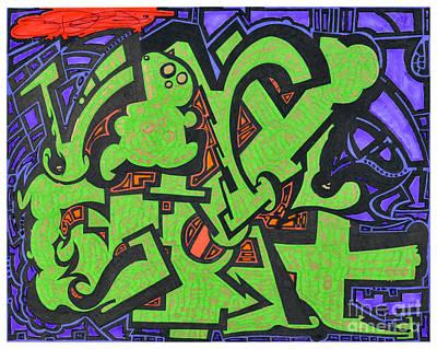 Hip Hop Drawing - Vinyl Carat by Sean Goldsmith