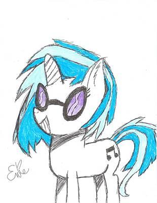 My Little Pony Drawing - Vinyl Scratch by Rhapsody Forever