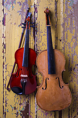 Beaten Up Photograph - Viola And Violin by Garry Gay
