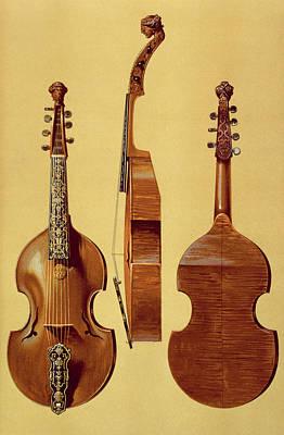 Violin Drawing - Viola Damore, 18th Century by Alfred James Hipkins