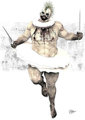 Buy Fine Art Online Digital Art - Scary Clown  by Quim Abella