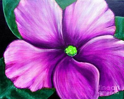 Fuzzy Digital Art - Violet African Violet by Barbara Griffin