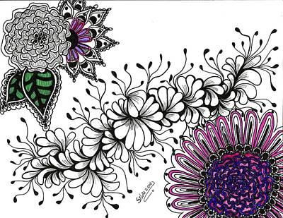 Violet Algae Art Print