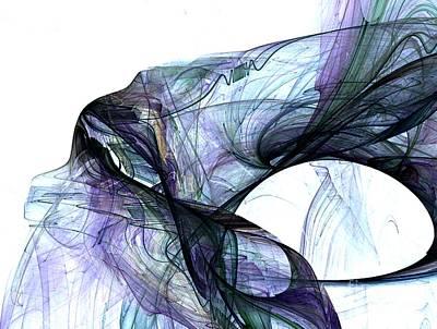 Digital Art - Violet Angel Rising by Vicki Lynn Sodora