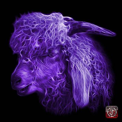 Digital Art - Violet Angora Goat - 0073 F by James Ahn