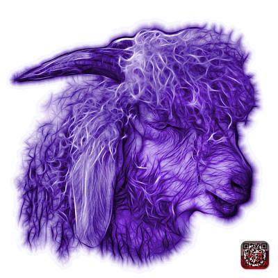 Digital Art - Violet Angora Goat - 0073 Fs by James Ahn
