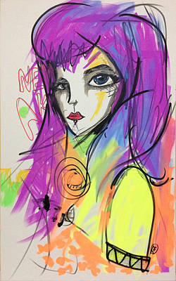 Violet Autumn Original by Tiah Mk