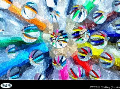 Digital Art - Violet Blue Love Faithfulness by Holley Jacobs