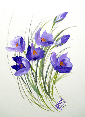 Violet Crocus Art Print