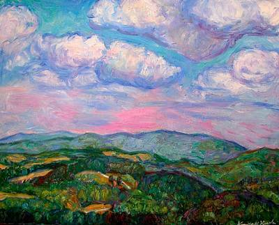 Painting - Violet Evening On Rocky Knob by Kendall Kessler