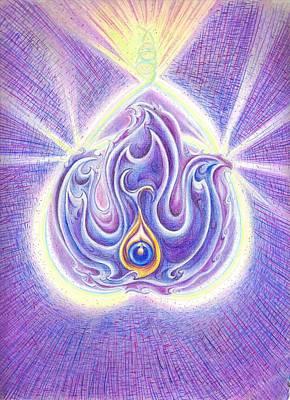 Observer Drawing - Violet Flame by Melinda DeMent