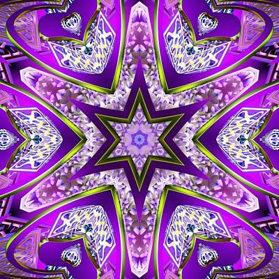 Fury Mixed Media - Violet Fury by Derek Gedney
