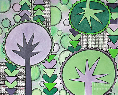 Violet-green Art Print by Home Art
