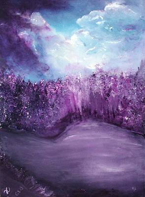 Painting - Violet Horizon by Tracy Truong