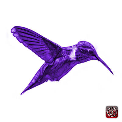 Digital Art - Violet Hummingbird - 2054 F S by James Ahn