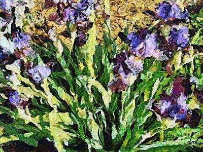 Violet Irises Art Print by Dragica  Micki Fortuna