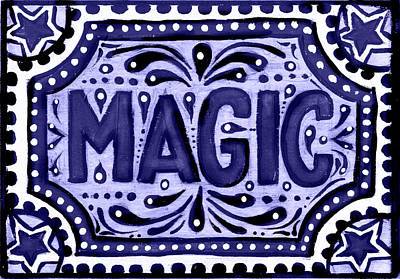 Violet Magic  Art Print