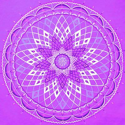 Violet Mandala Art Print by Vlatka Kelc