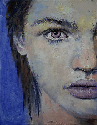 Manga Painting - Violet by Michael Creese