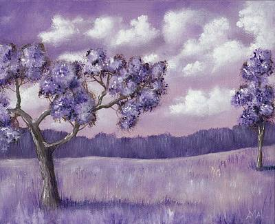Lavender Digital Art - Violet Mood by Anastasiya Malakhova